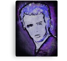 Grungy Jimmy Dean in purple Canvas Print