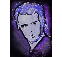 Grungy Jimmy Dean in purple Photographic Print