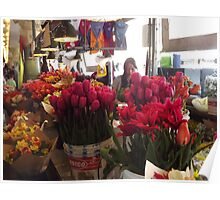 A Flower Stand, Pike's Public Market  Poster
