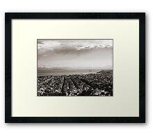 View to Athens Harbor (sepia) VRS2 Framed Print