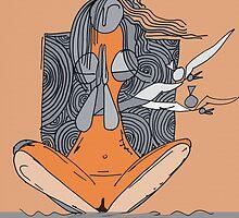 Naked yoga by artist singh by Artist  SinGh