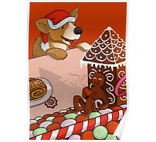 Gingerbread Christmas Poster