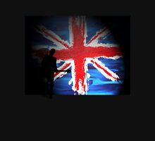 British Flag & Guitarist (black background) Unisex T-Shirt