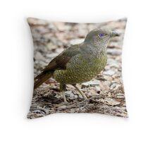 Baby Bower Bird Throw Pillow
