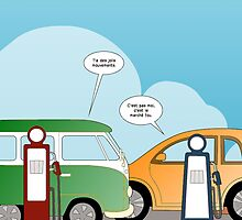 les voitures et les marchés en bd by Binary-Options