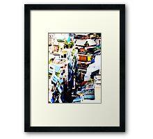 Athens Colorful Back Alley VRS2 Framed Print