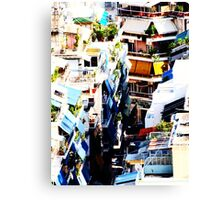 Athens Colorful Back Alley VRS2 Canvas Print