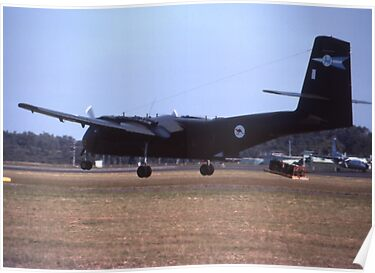 Caribou Parachute Drop @ Williamtown Airshow 1976 by muz2142