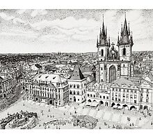 Prague City Square Photographic Print