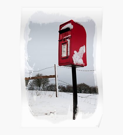 The Postbox in the snow Poster