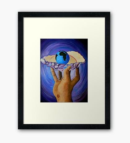 GOD'S Little Blue Pearl Of Great Price Framed Print