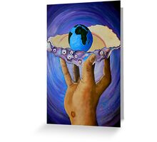GOD'S Little Blue Pearl Of Great Price Greeting Card