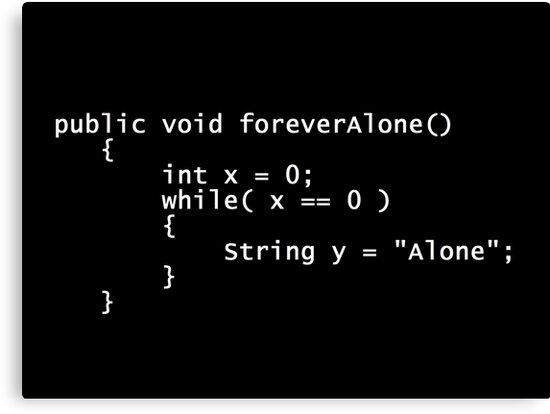 Forever Alone Java Poster by Matt Ruhland