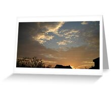 01/28/2013 Fantastic Sunset 2 Greeting Card