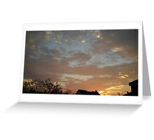 01/28/2013 Fantastic Sunset 4 Greeting Card