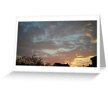 01/28/2013 Fantastic Sunset 5 Greeting Card