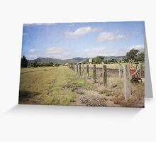Beside the Tracks Greeting Card