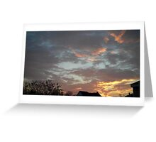 01/28/2013 Fantastic Sunset 6 Greeting Card