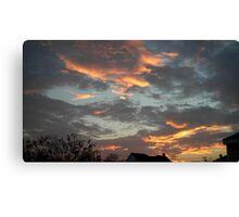 01/28/2013 Fantastic Sunset 7 Canvas Print