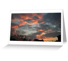 01/28/2013 Fantastic Sunset 8 Greeting Card