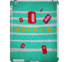 Chevron Polka Dots Green iPad Case/Skin