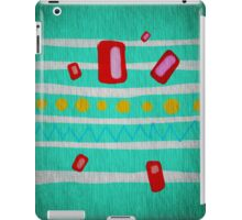 Chevron Polka Dots Green iPad Case/Skin