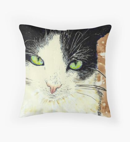 Bratitude with Catitude Throw Pillow