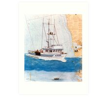 Crab Fishing Boat KAISA WA Nautical Chart Cathy Peek Art Art Print