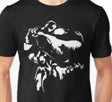 Rex - White on Black Unisex T-Shirt