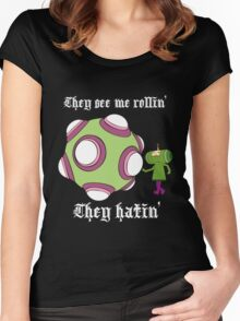 They see me rollin' Women's Fitted Scoop T-Shirt