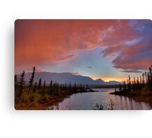 Jasper Lake Glow Canvas Print