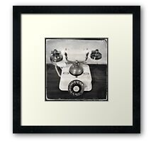 Rotary dial telephone, c.1920s (2013) Framed Print