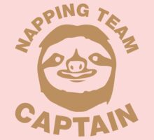 Sloth Napping Team Captain Kids Clothes