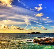 Godrevy Lighthouse Cornwall by Paul Thompson Photography
