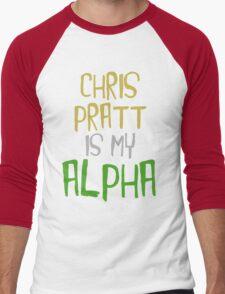 Chris Pratt is My Alpha Men's Baseball ¾ T-Shirt