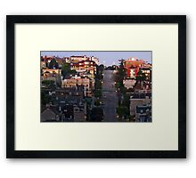 Broadway Street in Pacific Heights Framed Print