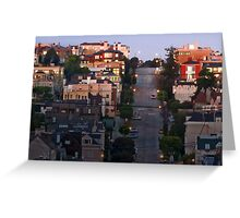 Broadway Street in Pacific Heights Greeting Card