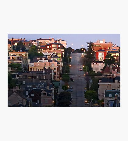 Broadway Street in Pacific Heights Photographic Print