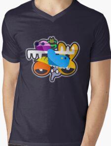 Happy Tree Faces Mens V-Neck T-Shirt