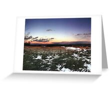 Cornfields in Winter Greeting Card