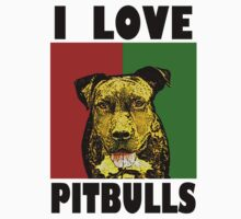 I Love Pitbulls Black Font by Ashe Bandia