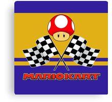 Mario Kart Chequered Flags Canvas Print