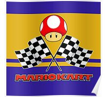 Mario Kart Chequered Flags Poster