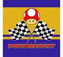Mario Kart Chequered Flags Photographic Print