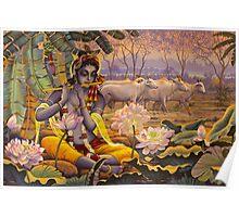Krishna. Evening flute Poster