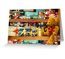 Teddy Bear & Christmas Gifts Greeting Card