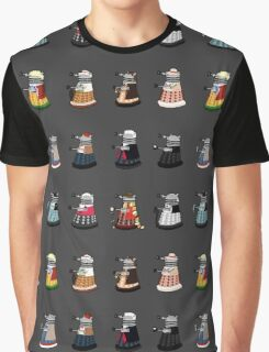 Daleks in Disguise Pattern Graphic T-Shirt