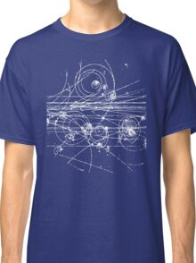 Particle tracks (dark) Classic T-Shirt