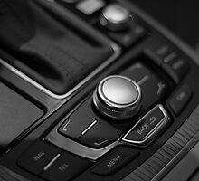 Audi 2013 Console in B&W by Daniel  Oyvetsky