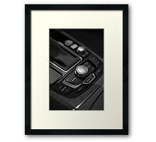 Audi 2013 Console in B&W Framed Print